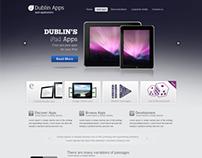 Professional Premium Website Design Template for iPad a