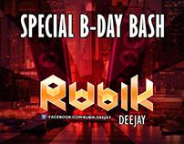 Event Flyer, Rubik DJ @ Special B-Day Bash