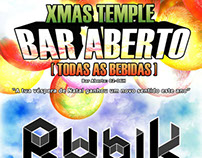 """Event Flyer """"Xmas Temple"""""""