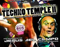 "Event Flyer ""Techno Temple II"""