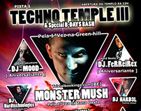 "Event Flyer ""Techno Temple III"""
