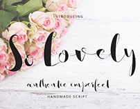 So Lovely - Hand lettered Script