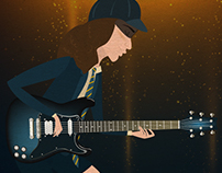 Angus Young. Fanart.