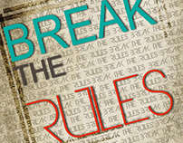 """break the rules"" typography"