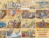 Honda_Green cap