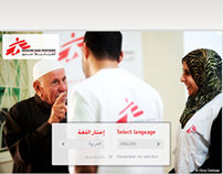 Redesign of MSF ME website