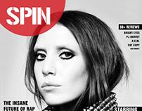 SPIN Magazine Re-branding/designing