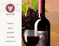Cave a' Vin - Web Design