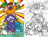 """""""Sports In The Forest"""" coloring book project"""