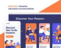 NoLimits Online School Website