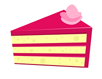 Fiverr Order: Cake Slice Illustration for Sweet Peek