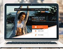 Peak Fitness Web design Hompage Mockup