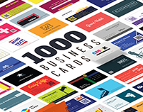 1000 business card template pack