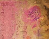 Vintage rose paper design