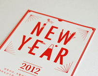"NEW YEAR'S CARD "" Happy Japan red """