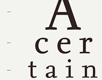 Seria Typeface Poster