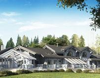 Проект деревянной гостиницы