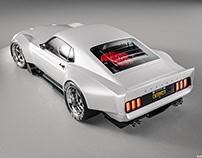'70 Ford Mustang Boss 302 Widebody   CGI