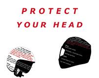 Motorcycle Helmet Info Graphic