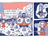 English Idiom Comic Strips