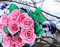 Paper Pink Roses