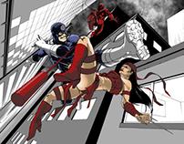Daredevil VS Bullseye VS Elektra - Fan Art