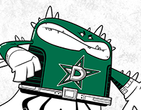 Dallas Stars themed superhero