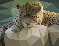 Low Poly Effect - (Leopard)