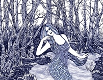 Blue Mermaid (Book Illustration)