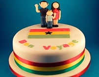 Bon Voyage Leaving Cake