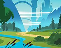 2D Cartoon Landscape Backgrounds