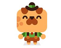 Messenger app sticker pack - Horace the dog