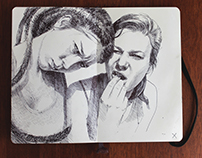 moleskine portraits and doodles