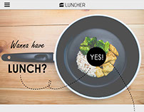 Luncher | web design