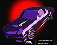 MUSTANG GT500E x BLANKPOSTER