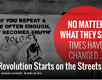 #IfNotNow – Revolution Starts on the Streets
