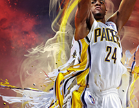 NBA2K12 / Paul George Custom Cover