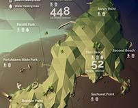 Clean Ocean Access Activities Map