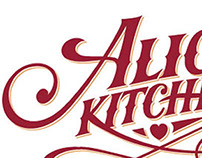 Hand drawn lettering for restaurant logo