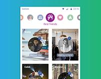 1440moments - social diary app concept for Facebook