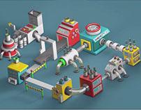 mini machine animation