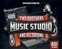 Music Studio 3 Flyer/Poster