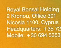 Royal Bonsai Holding • Identity
