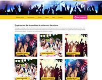 Diseño de home page para mundofiestas.com.