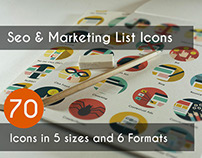 Seo & Marketing List Icons