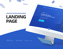 Landing page for financial service