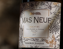 Wine Packaging Design | Mas Neuf Muscat Sec