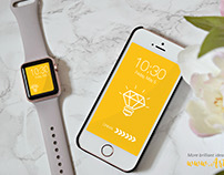 Free smartwatch and smartphone mockup