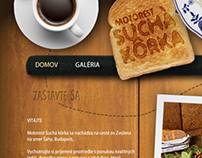 "New web design for ""roadhouse Suchá kôrka"""