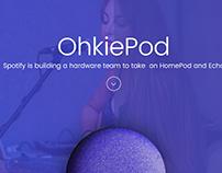 OhkiePod Product Landign Page